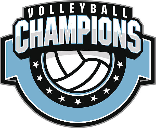 volleyball champion - high school sports stock illustrations
