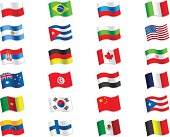 Collection of flag. Vector design.