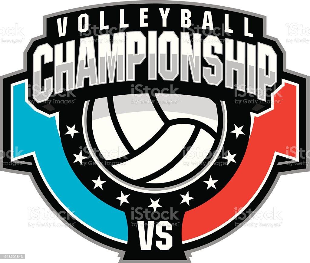 Volleyball Championship vector art illustration