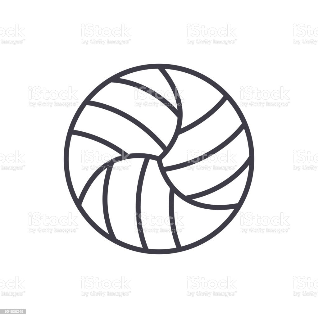 Volleyball competitions black icon concept. Volleyball competitions flat  vector symbol, sign, illustration. royalty-free volleyball competitions black icon concept volleyball competitions flat vector symbol sign illustration stock illustration - download image now