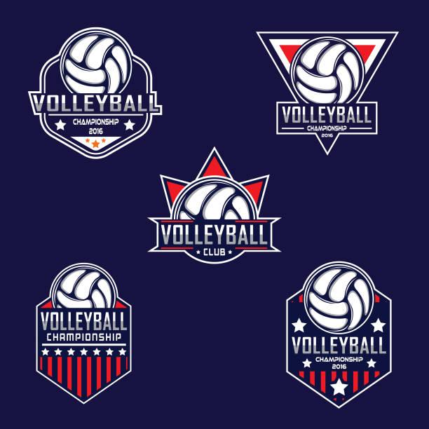 illustrations, cliparts, dessins animés et icônes de modèle de conception de volley-ball - volley ball