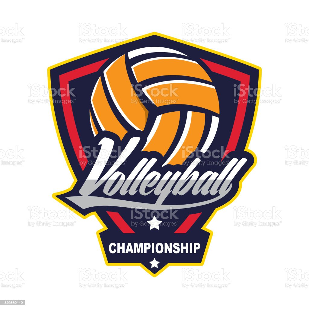 Volleyball design template royalty-free volleyball design template stock illustration - download image now