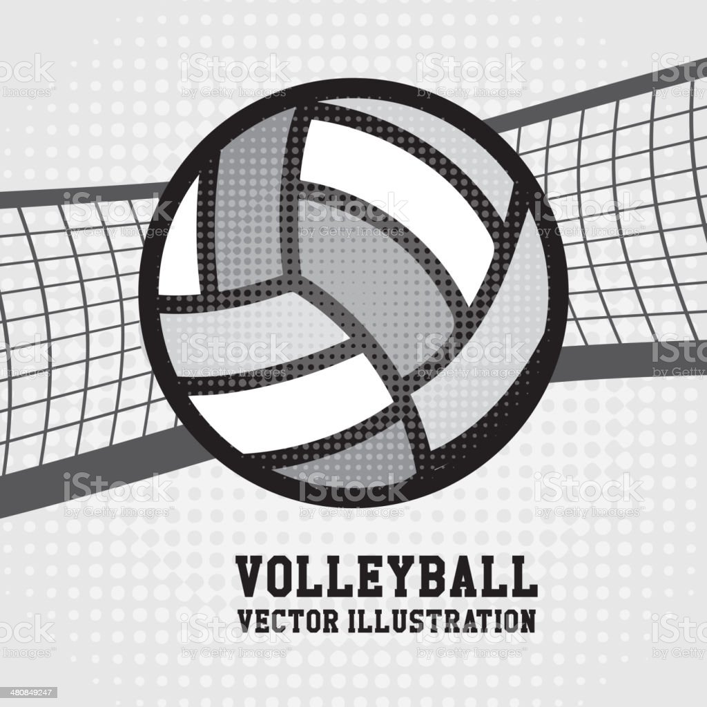 volleyball design vector art illustration