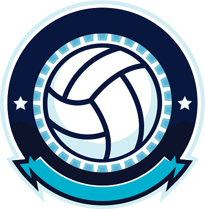 Volleyball design with stars