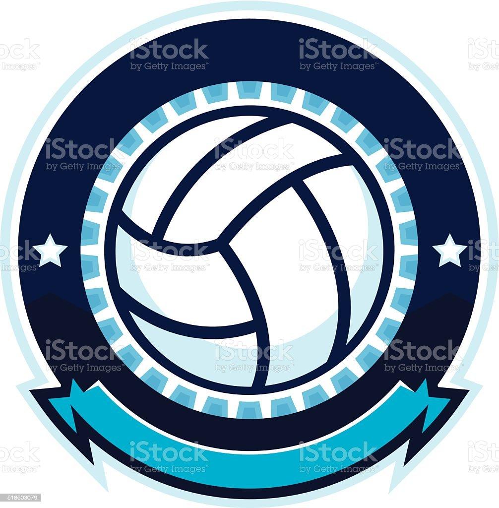 Volleyball design with stars vector art illustration