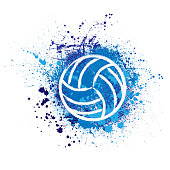Volleyball grunge background