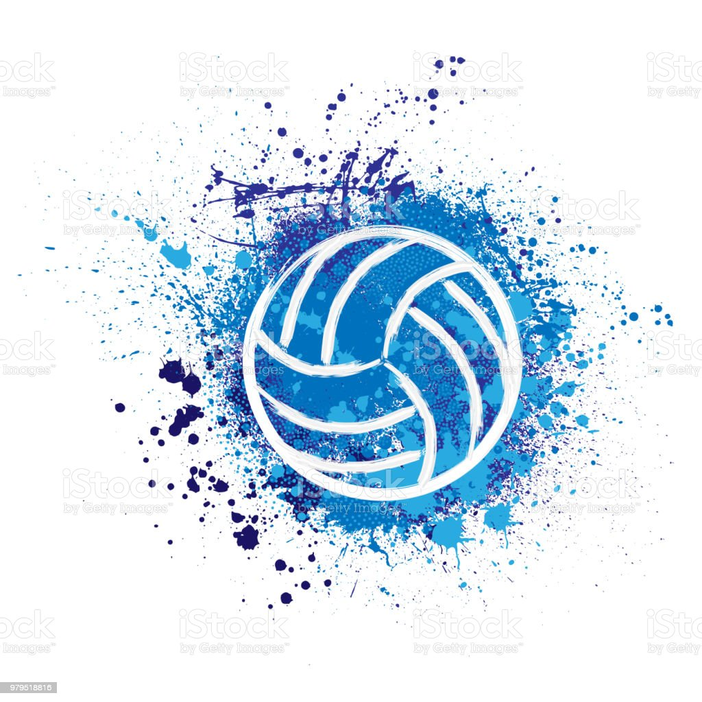 Volleyball grunge background vector art illustration