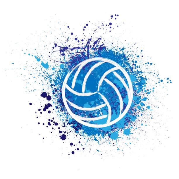Fondo de grunge de voleibol - ilustración de arte vectorial
