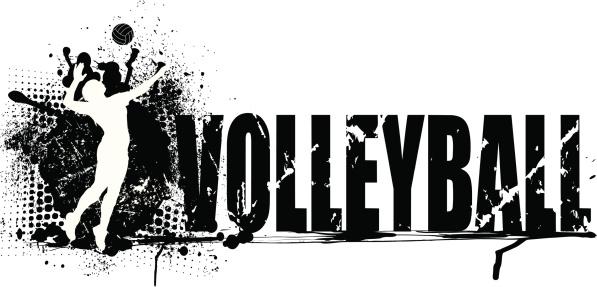 Volleyball Grunge Graphic Background - Girls