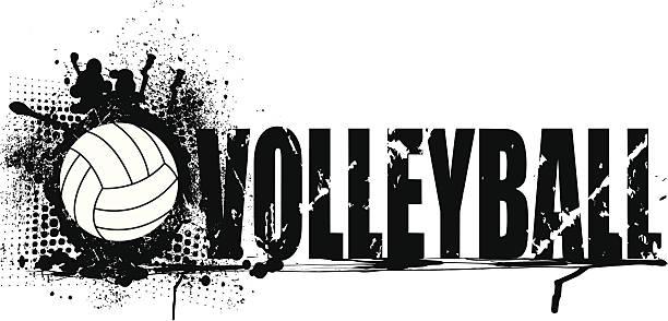 Volleyball Grunge Graphic Background vector art illustration