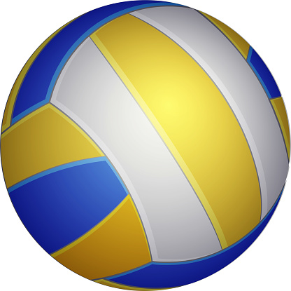 Volleyball icon. Realistic vector illustration of Volleyball for web design, logo, icon, app, UI. Isolated on white.