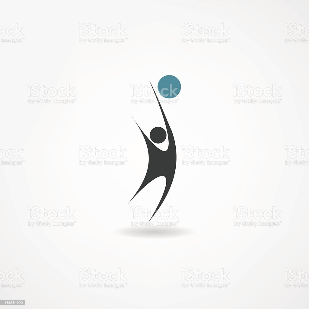 volleyball icon royalty-free volleyball icon stock vector art & more images of activity