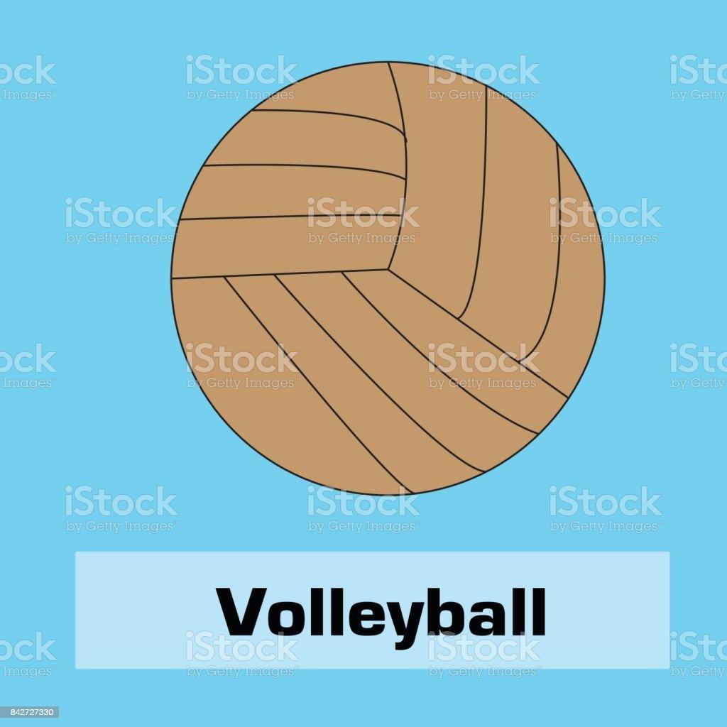 volleyball icon vector vector art illustration