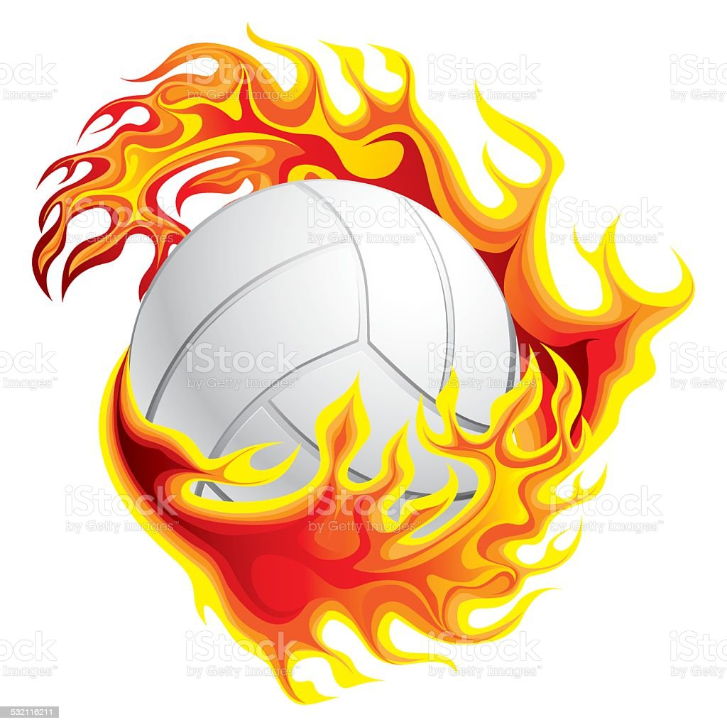 Volleyball on fire