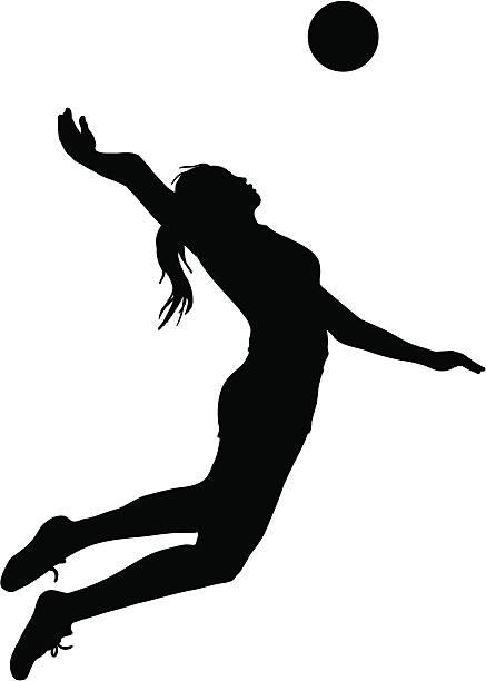 Voleibol Jump servir - ilustración de arte vectorial
