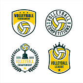 istock Volleyball League Competitions Tournament Set 1225731920