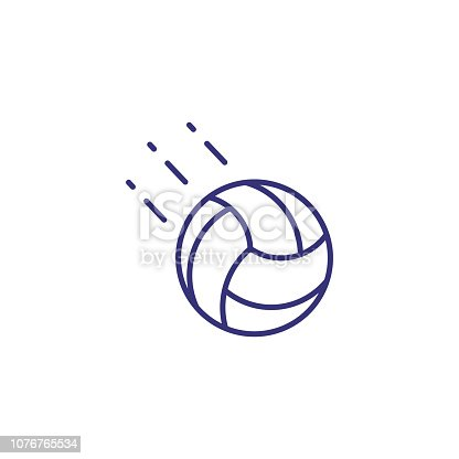 Volleyball line icon. Ball on white background. Sport concept. Vector illustration can be used for topics like sport, volleyball, activity