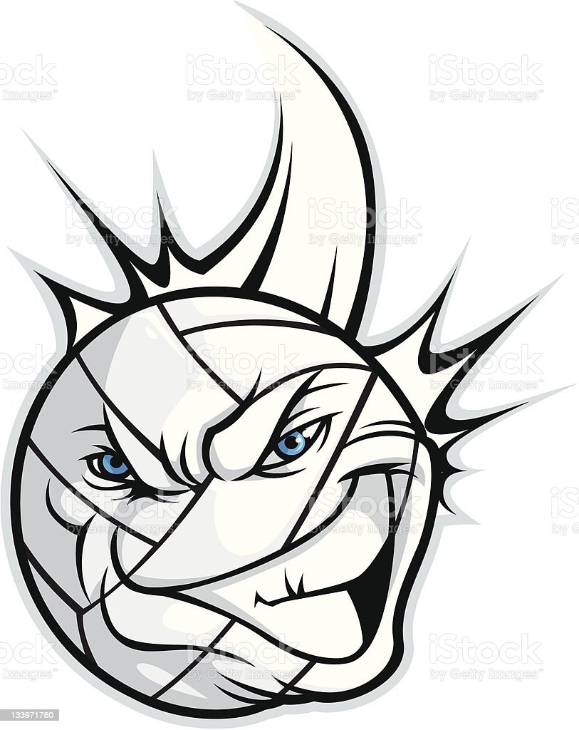 Volleyball Mascot royalty-free stock vector art