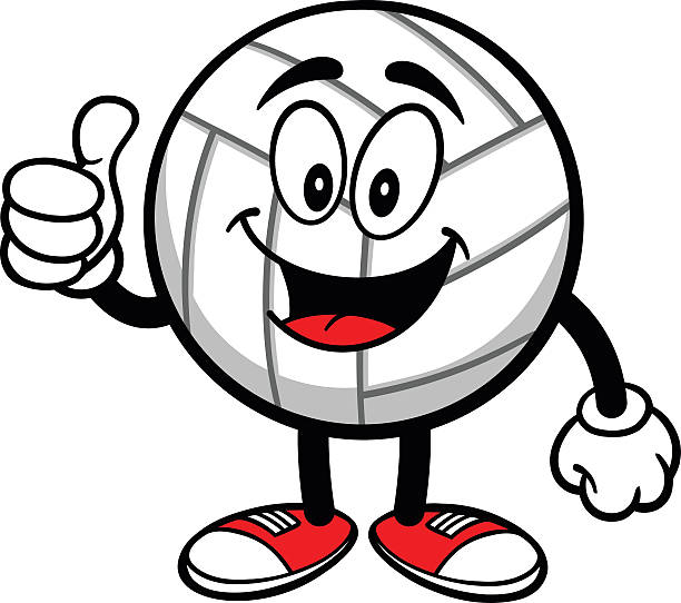Volleyball Cartoon Thumbs Up Illustrations, Royalty-Free ...