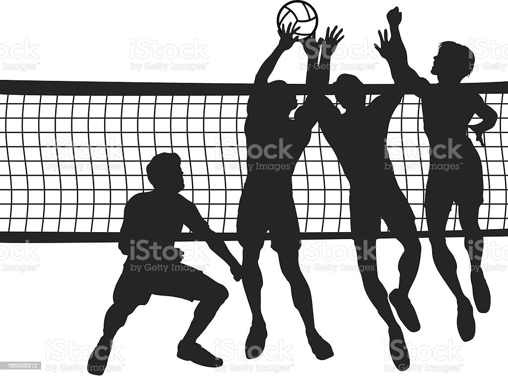 Volleyball - Men royalty-free volleyball men stock vector art & more images of activity