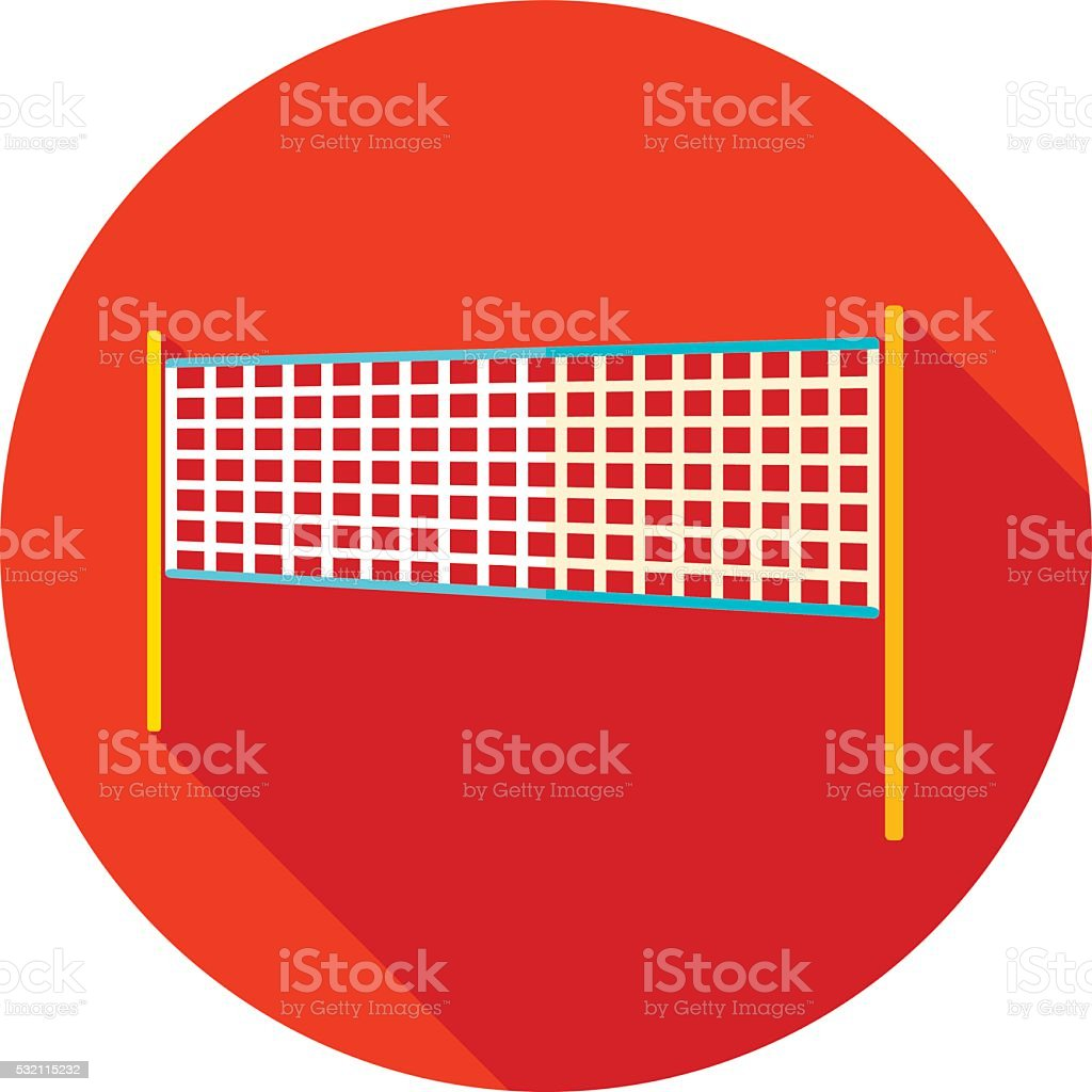 Volleyball net beach sport flat icon vector art illustration