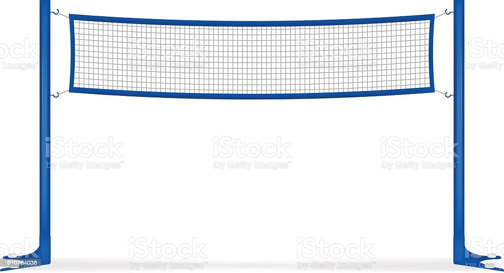 Volleyball net vector art illustration