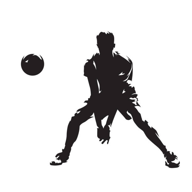 Best Volleyball Dig Illustrations, Royalty-Free Vector ...