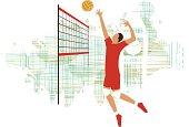 . volleyball player