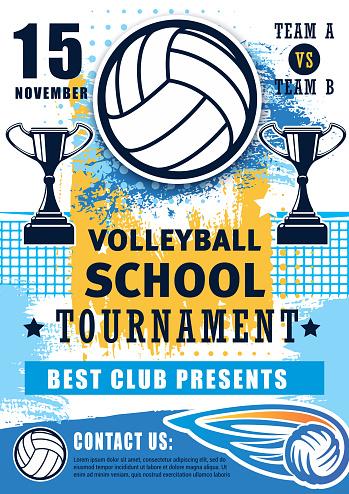 Volleyball school sport team league tournament