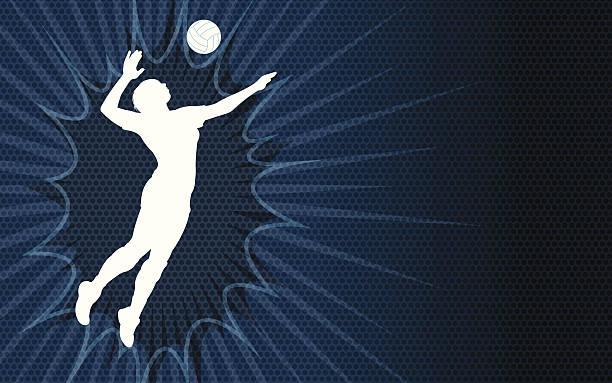バレーボールて背景-雌 - バレーボール点のイラスト素材/クリップアート素材/マンガ素材/アイコン素材