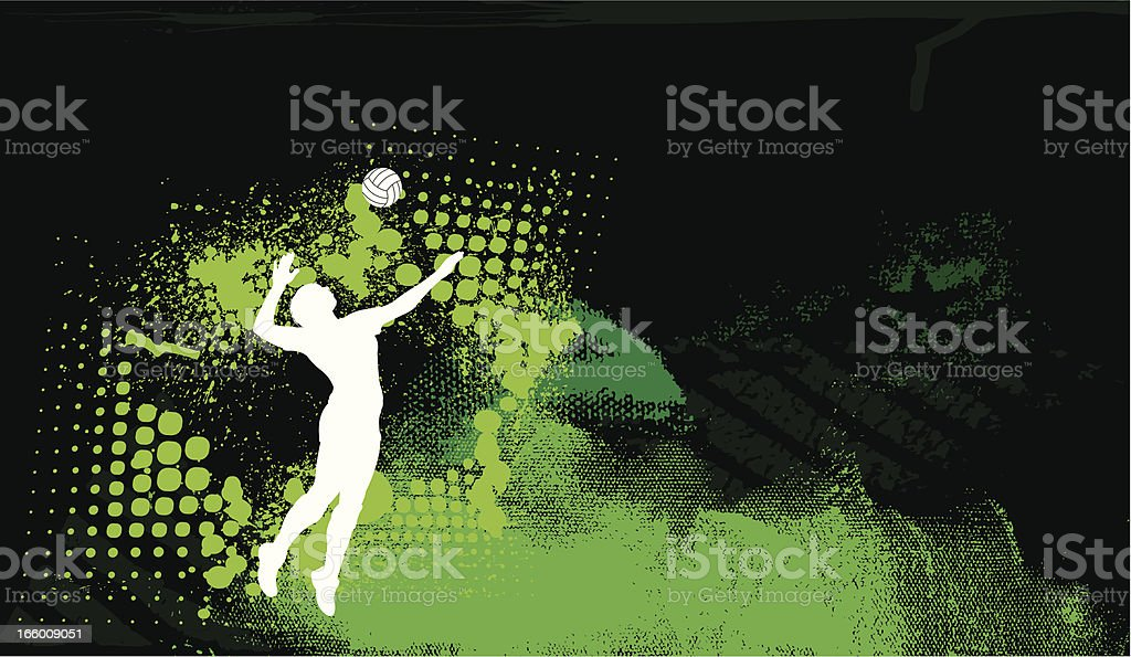 Volleyball Serve Background - Girls royalty-free stock vector art