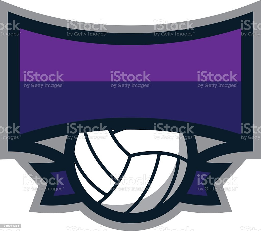Volleyball Shield Logo royalty-free volleyball shield logo stock vector art & more images of 2015