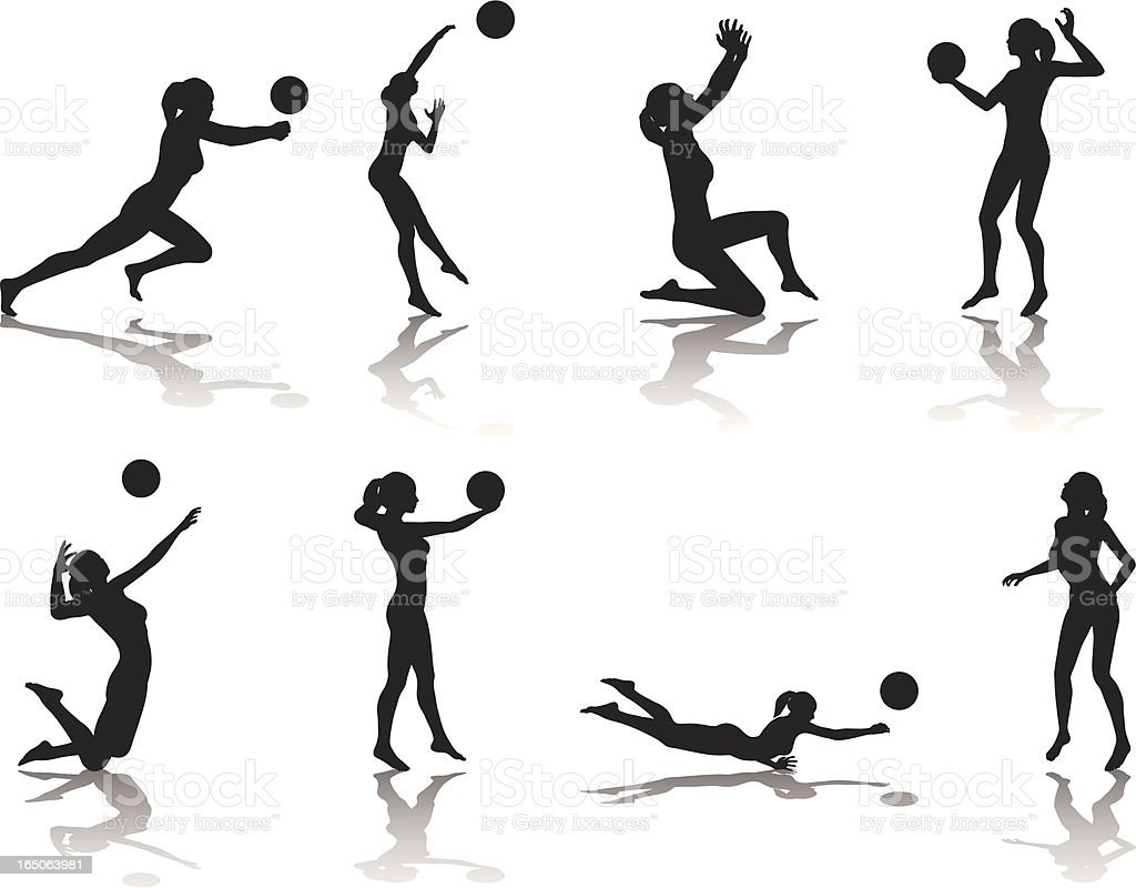 Abstract Design Of A Beach Volleyball Player Vector Image: Royalty Free Volleyball Clip Art, Vector Images