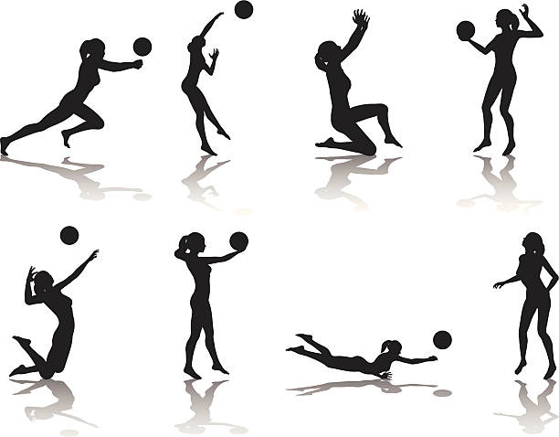 Abstract Triangle Volleyball Player Silhouette Stock: Volleyball Clip Art, Vector Images & Illustrations