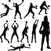 Volleyball Silhouettes