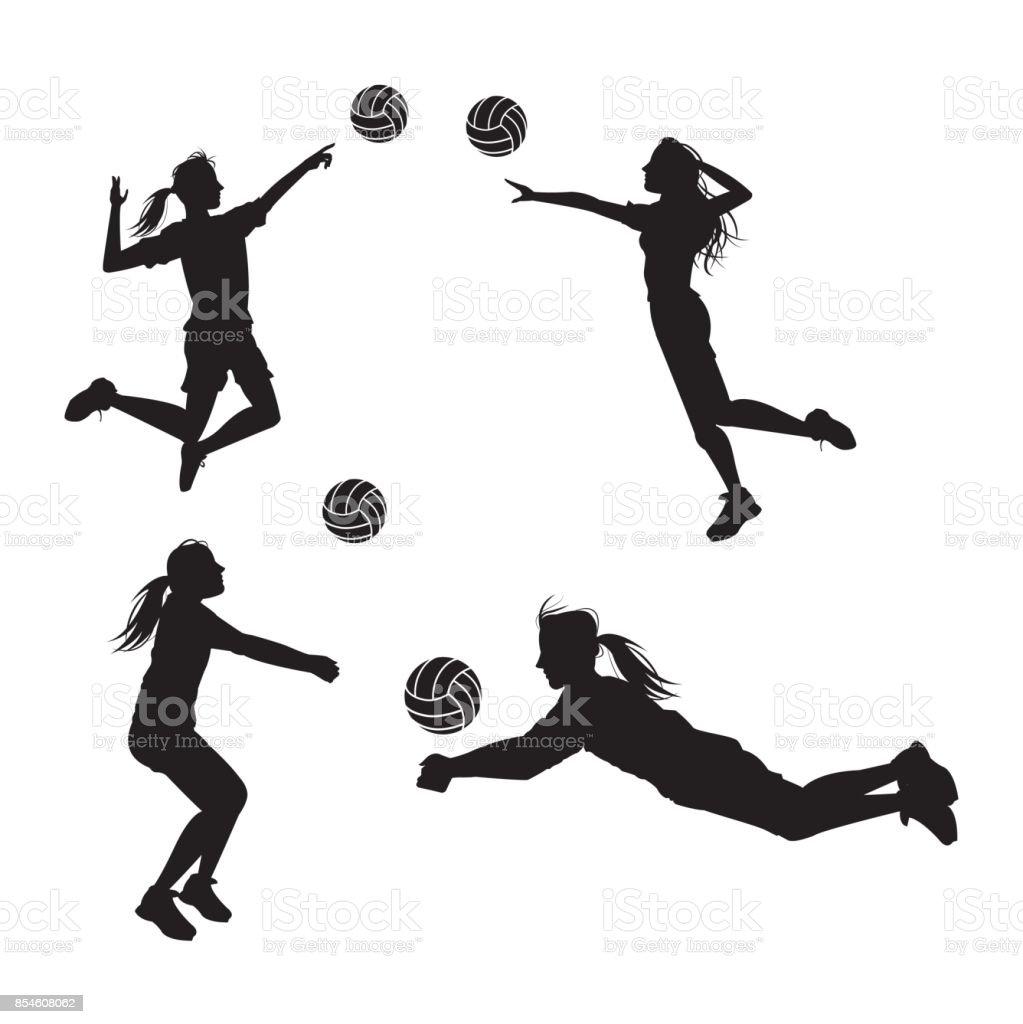 Voleibol deporte y hobby diseño - ilustración de arte vectorial