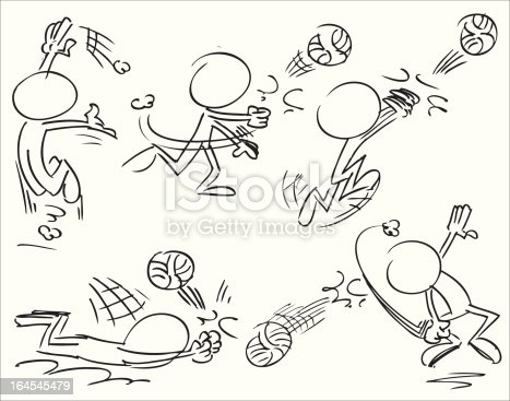 volleyball  sport characters in action
