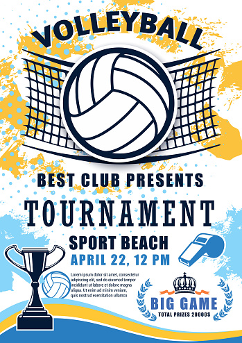 Volleyball sport league cup tournament