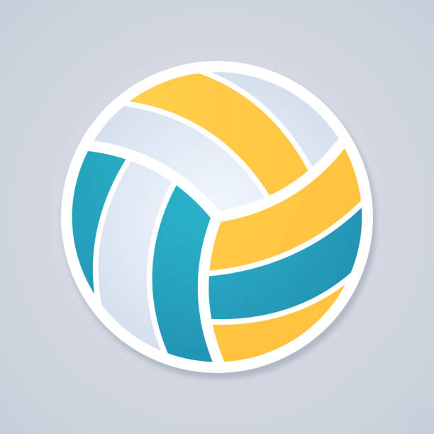 volleyballspiel – Vektorgrafik