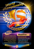 Volleyball, sports news. EPS 10.
