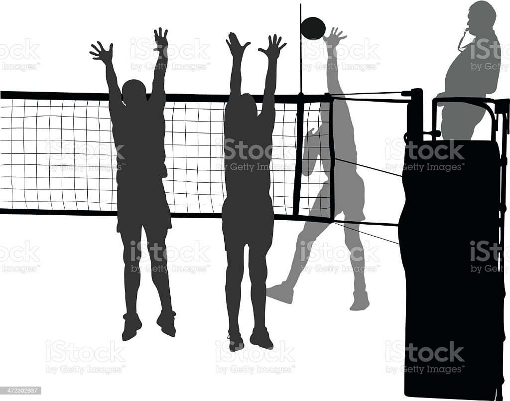 Volleyball vector art illustration