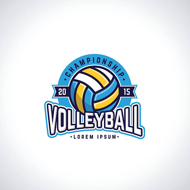 volleyball - high school sports stock illustrations