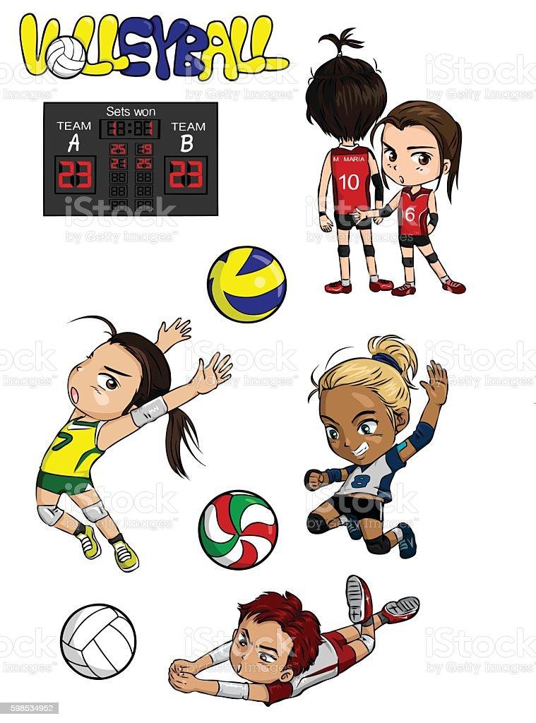Volley-ball  volleyball – cliparts vectoriels et plus d'images de ballon de volley libre de droits