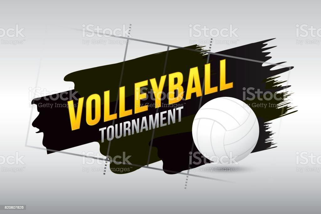 Cancha de voleibol - ilustración de arte vectorial