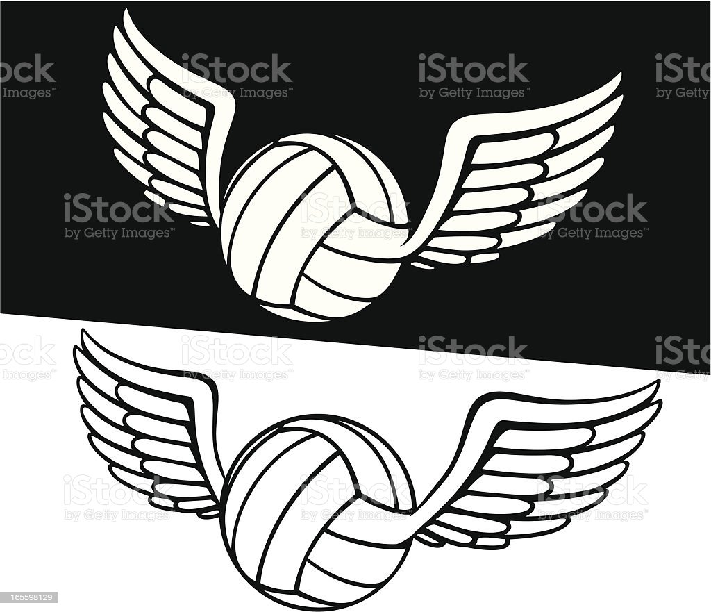 Volleyball with wing. royalty-free stock vector art