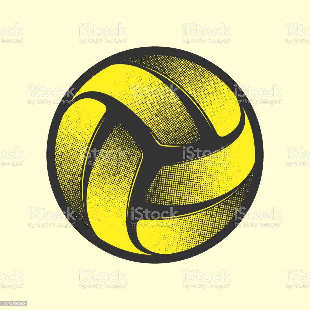 2e615dd89 Símbolo de voleibol amarelo vetor de símbolo de voleibol amarelo e mais  banco de imagens de
