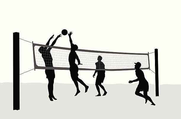 Beach Volleyball - Cartoon People Character Illustration. Happy.. Royalty  Free Cliparts, Vectors, And Stock Illustration. Image 99733123.
