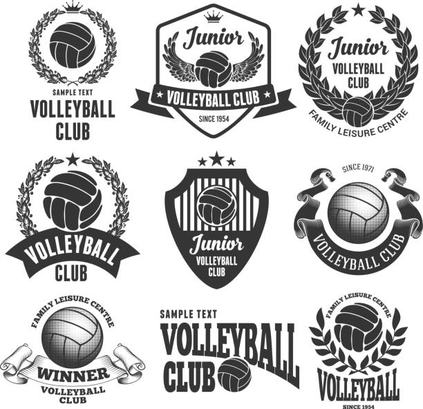 volleytball club emblems - バレーボール点のイラスト素材/クリップアート素材/マンガ素材/アイコン素材