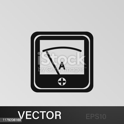 voltmeter indicator icon. Signs and symbols can be used for web, logo, mobile app, UI, UX on sky background