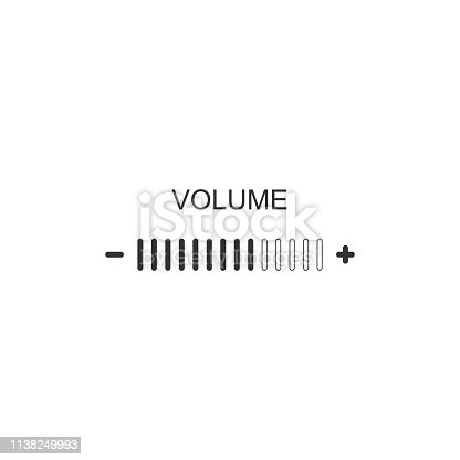 Volume adjustment icon isolated. Flat design. Vector Illustration